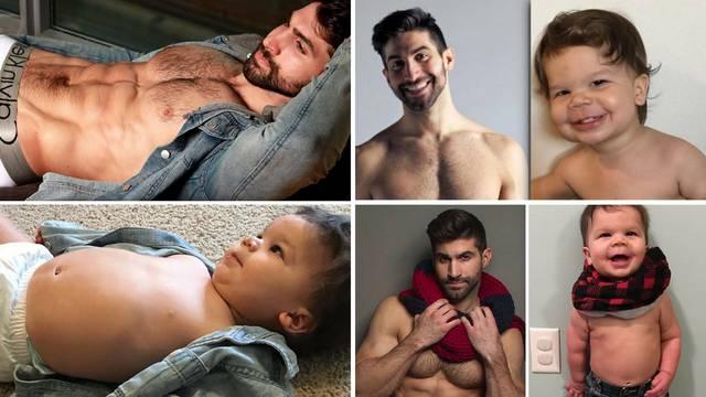 Beba kopirala ujaka manekena - njegove poze osvojile su sve