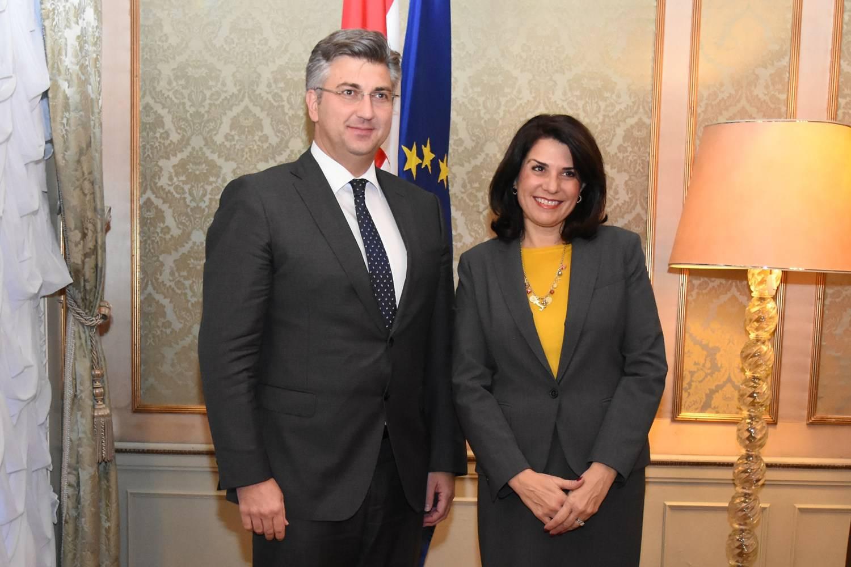 Plenković primio u oproštajni posjet američku veleposlanicu
