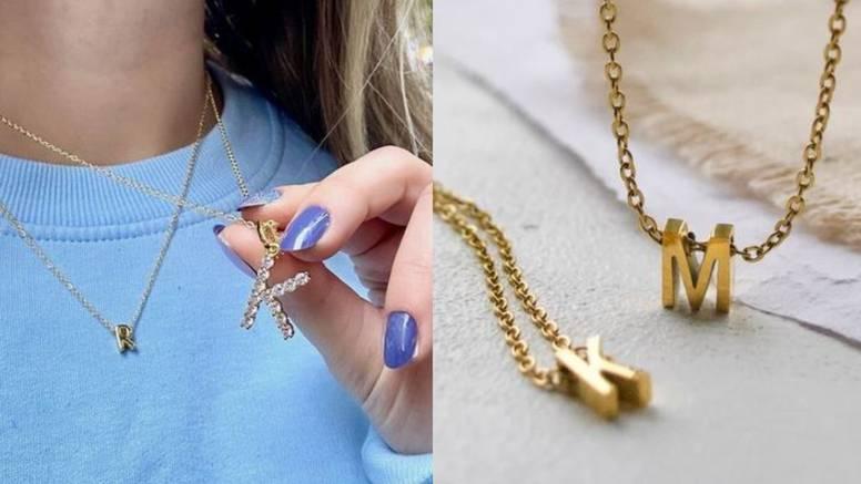 Ogrlice s inicijalima: Simpatičan nakit minimalističkog dizajna