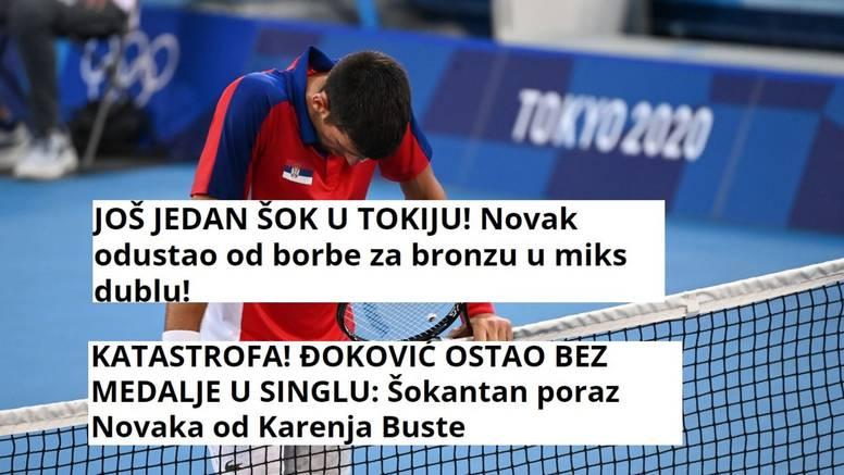 'Katastrofa', 'Potpuni krah': Srpski mediji razapeli Đokovića, na kraju odustao od 'mixa'...