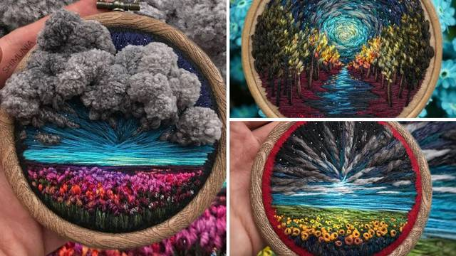 Ruši granice umjetnosti: Njezini živopisni vezovi oduševljavaju