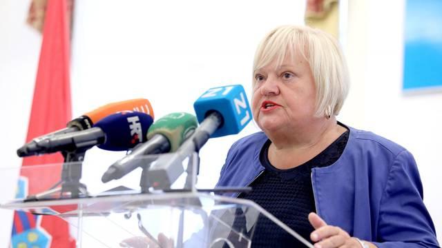 Zagreb: Anka Mrak Taritaš i  Sonja Konig na konferenciji za medije u Staroj gradskoj vijećnici