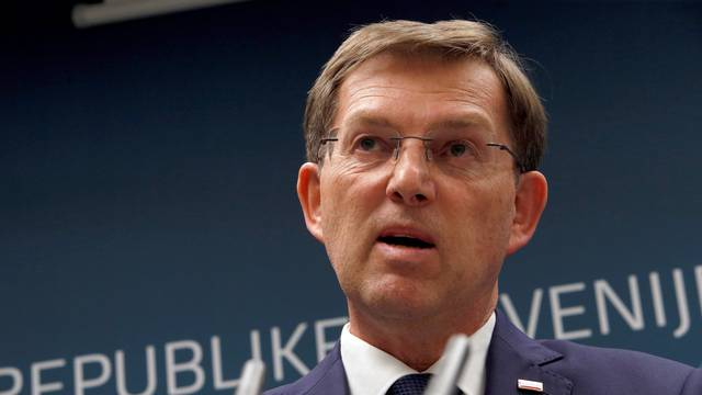 Miro Cerar, Slovenia's Prime Minister speaks during a news conference announcing his resignation in Ljubljana