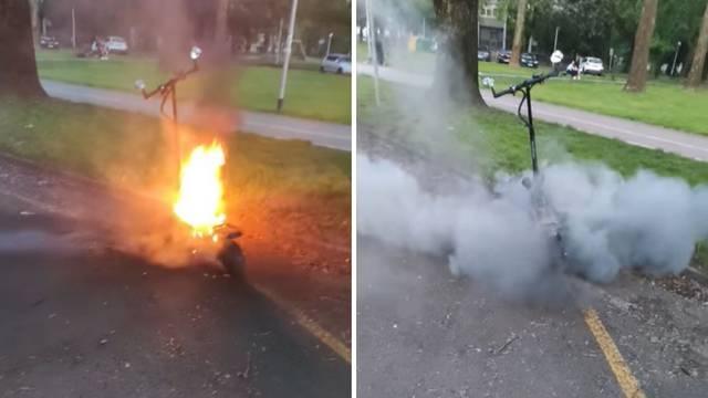 U Zagrebu se zapalio električni romobil: 'Što bi se tek dogodilo da sam ga stavio u automobil?'