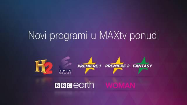 MAXtv u osnovni i prošireni paket dodao nove TV kanale