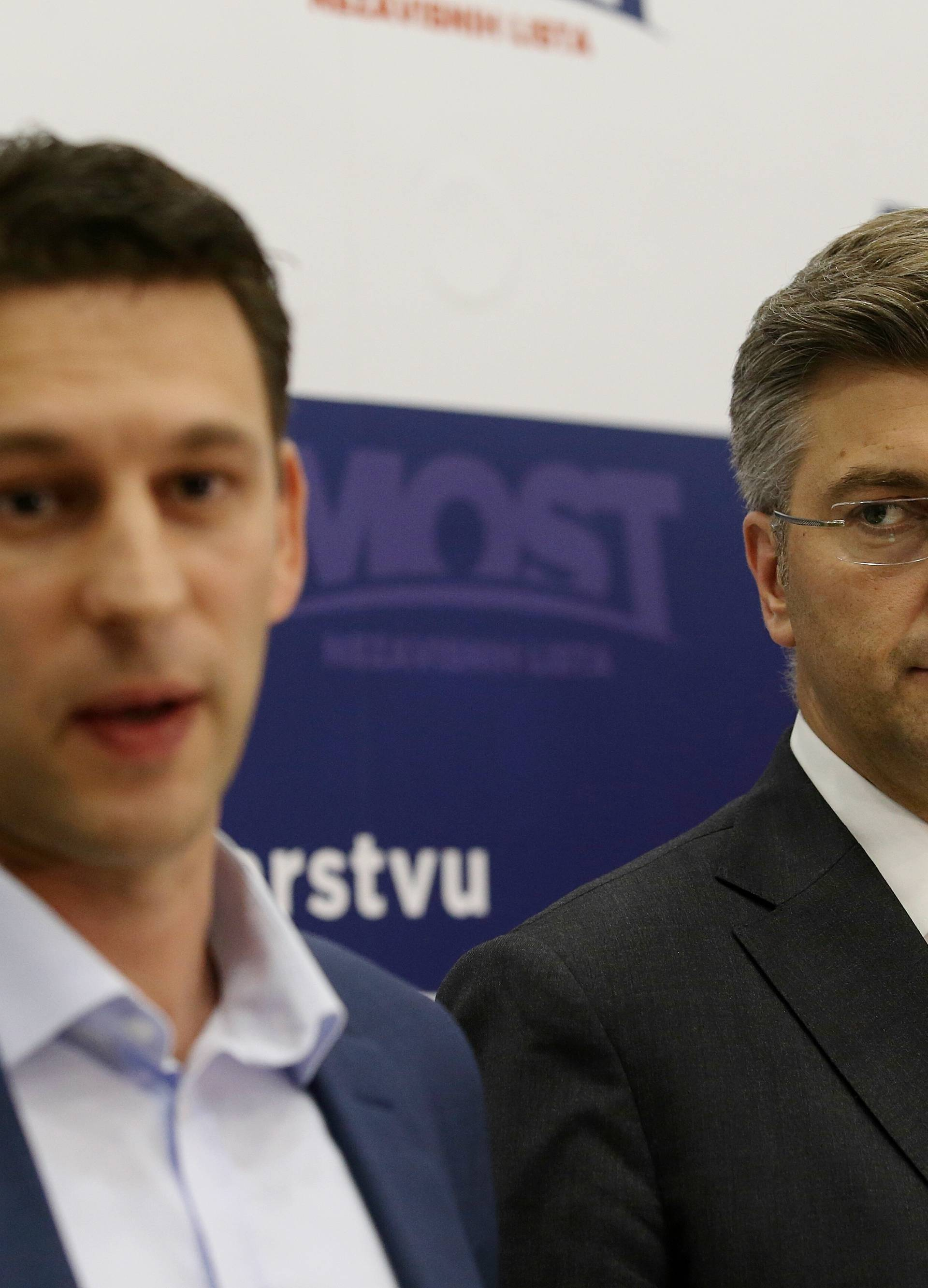 Plenković: Na stolu je i opcija bez Mosta, ali to nije prioritet