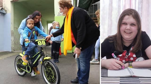 Radost za Marka (6): 'Hvala Eni što mi je kupila bicikl, ovo je nešto najljepše što sam vidio'