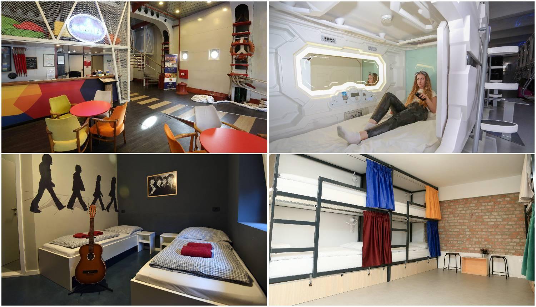 Hosteli: Noćenje u 'Svemirskoj kapsuli', botelu ili Rock hostelu