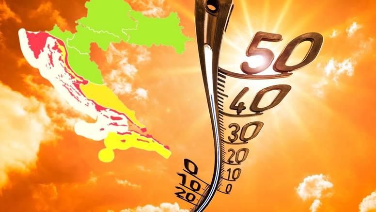 Sutra je cijela hrvatska obala u crvenom! Bit će pakleno vruće