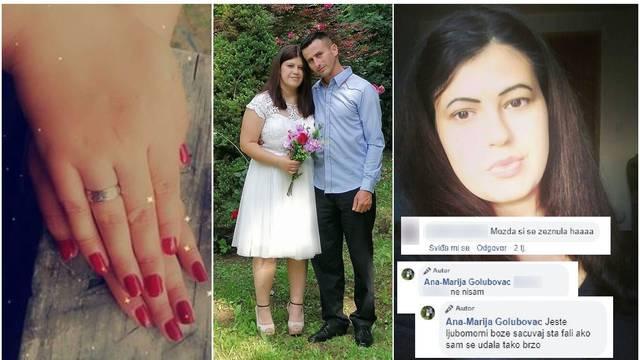 Dušanovu ženu napali nakon zaruka: 'Ljubomorni ste, što fali ako sam se udala tako brzo?!'