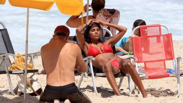 *EXCLUSIVE* Vincent Cassel and wife Tina Kunakey bare their hot bodies at the beach in Brazil!