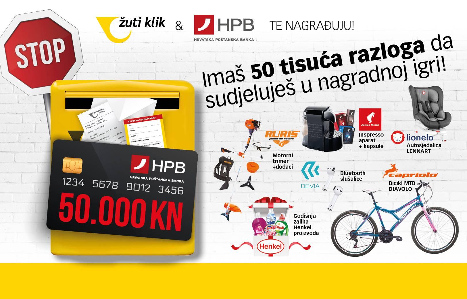 50 tisuća razloga za sudjelovanje u nagradnoj igri Hrvatske pošte