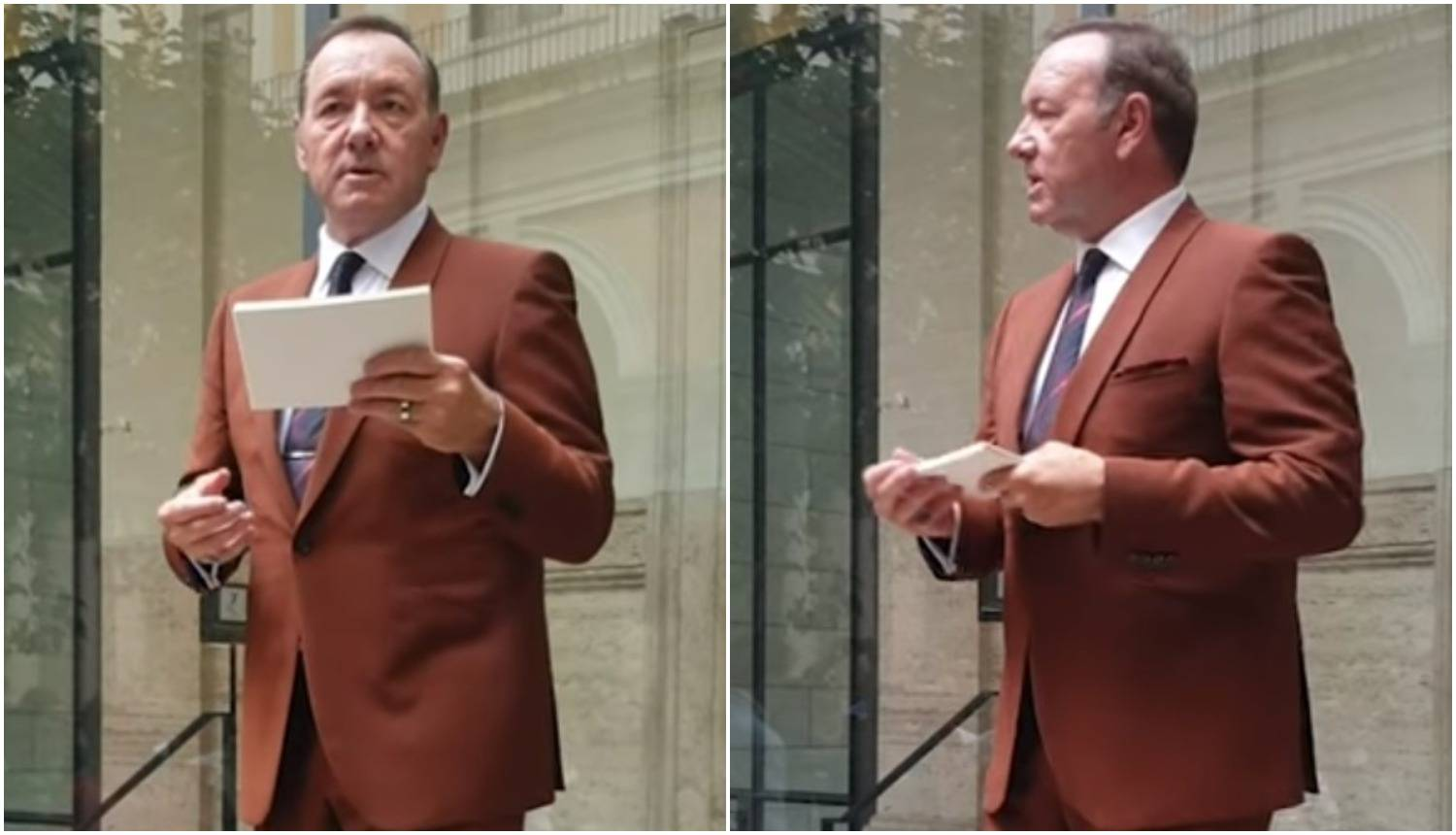 Kevin Spacey recitirao poeziju u Rimu i šokirao performansom