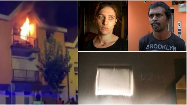 Majka i dvoje djece bili okovani požarom u Bjelovaru: Susjedi su dignuli ljestve, Indijac spašavao