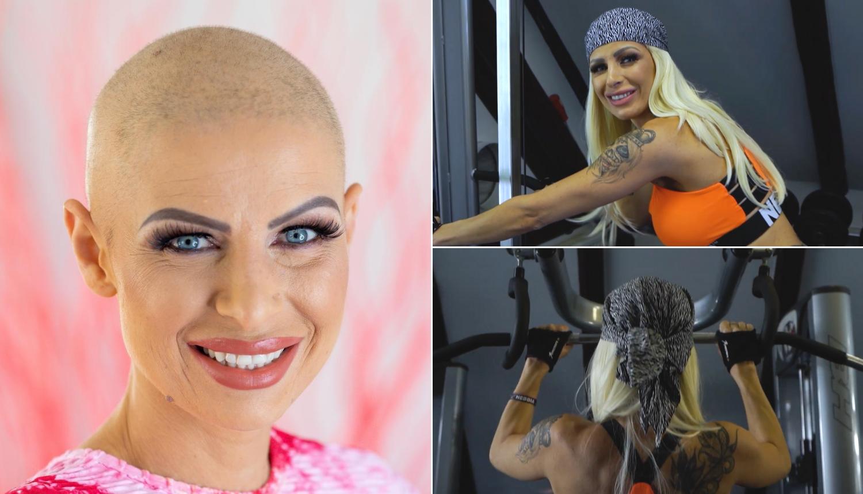 S lavicom Vanjom na treningu: 'Jedan dan sam uništena zbog kemoterapija,  a drugi vježbam'