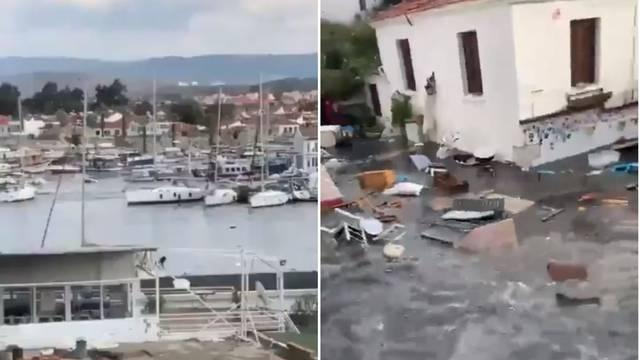 Jeziva snimka: Pogledajte kako je more povuklo brodove na pučinu prije tsunamija u Izmiru