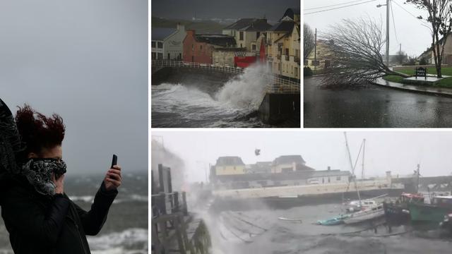 Ofelija poharala Irsku: Ulice su jezivo puste, jak vjetar sve ruši