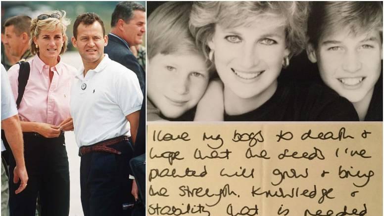 Dianin batler pokazao je njeno pismo: 'Djeci će trebati snaga'