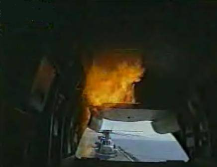 transporter, gori, vatra