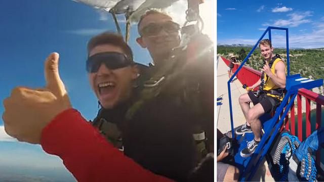 Najluđi ljetni provod na Zrću: Skočili bungee s 50 metara, a onda 'poletjeli' i padobranom