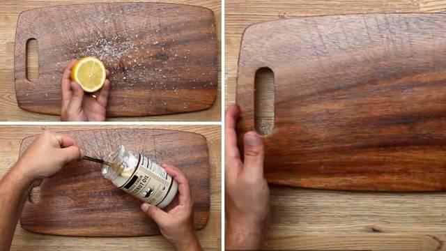 Izgrebana kuhinjska daska će izgledati kao nova uz ovaj trik