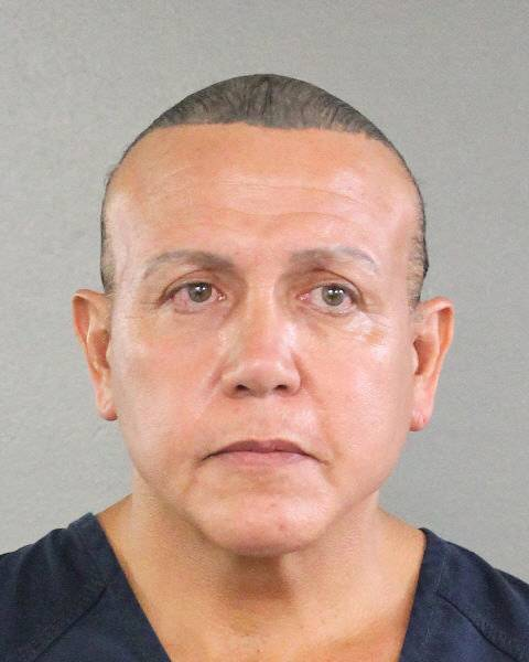Cesar Altieri Sayoc is pictured in Ft. Lauderdale, Florida, U.S. in this handout booking photo