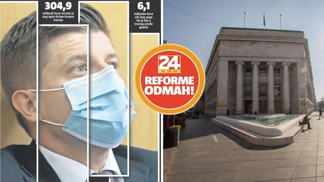 Hrvatski dug prvi put viši od 300 milijardi kuna. Stručnjak: 'Vlada nije radila velike uštede'