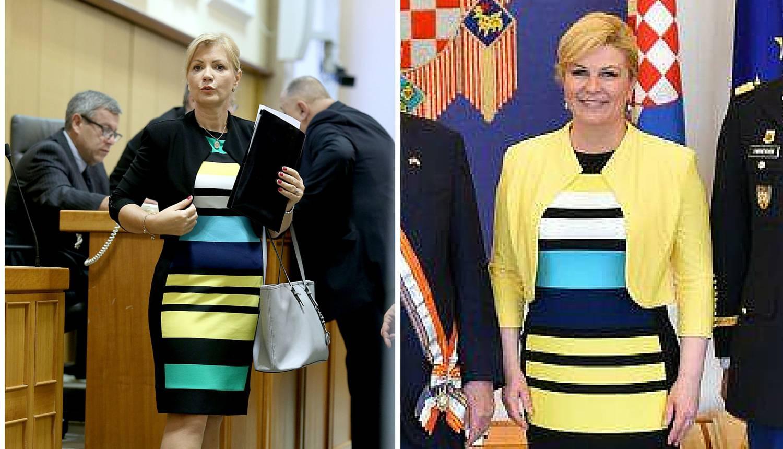 Koja je koja? Kolinda iskopirala Bernardicu i obukla istu haljinu