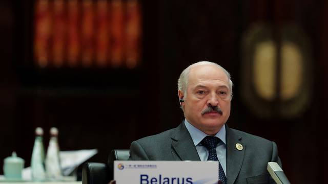 FILE PHOTO: Belarus President Alexander Lukashenko attends the Roundtable Summit Phase One Sessions of Belt and Road Forum at the International Conference Center in Yanqi Lake