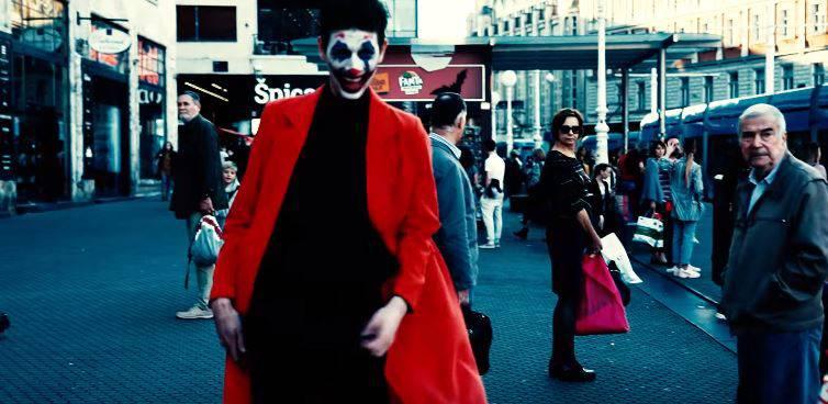 Plašio ljude u centru Zagreba prerušen u jezivi lik Jokera!