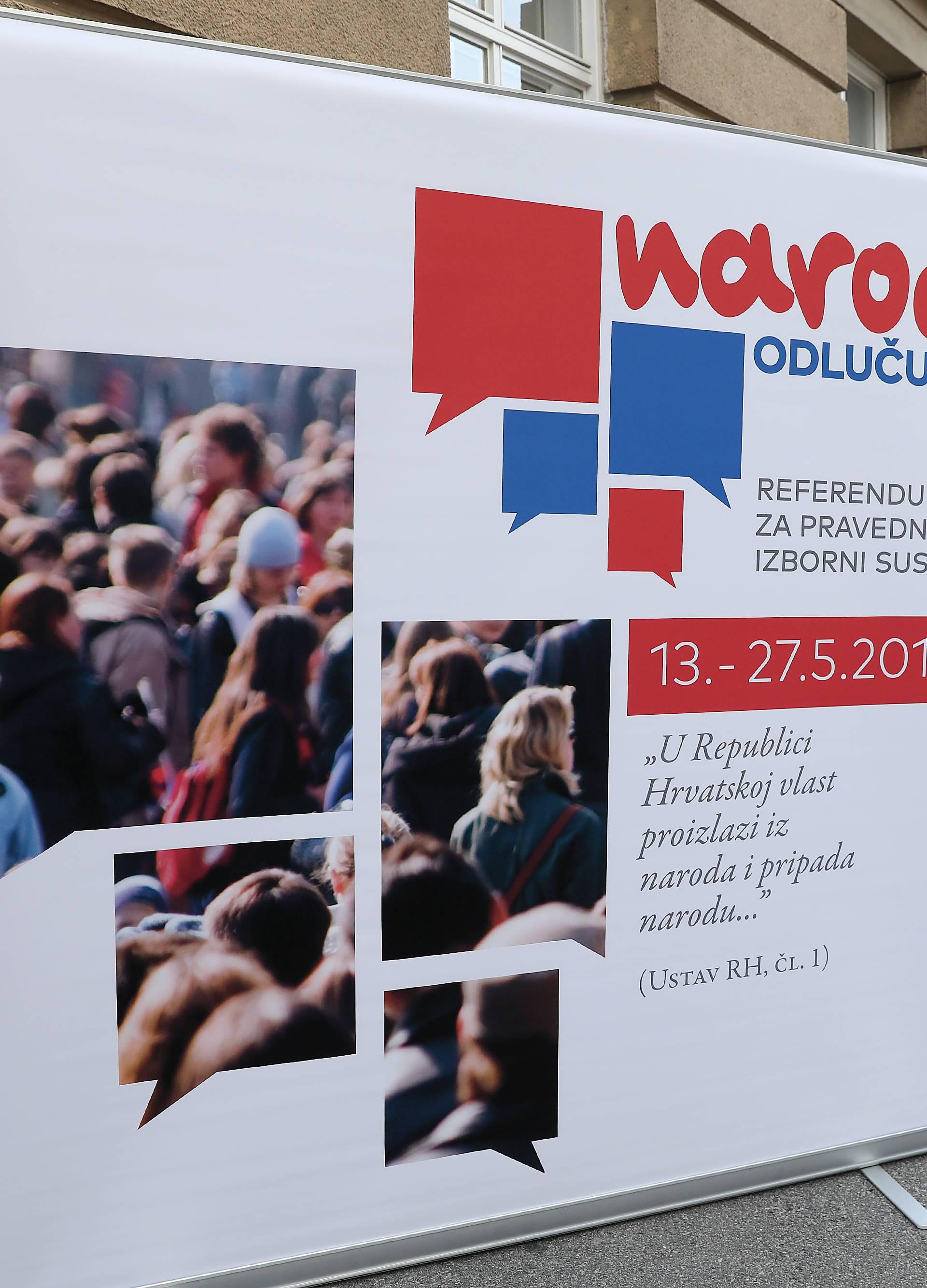 Zagreb: GI Narod odlučuje traži raspisivanje referenduma