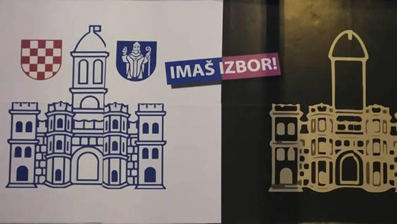 HDZ ima novi plakat u Splitu: 'Zlatni falus' na grbu Grada