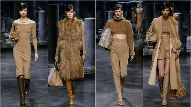 Fendi predlaže elegantne smeđe nijanse u vuni i nježnom krznu