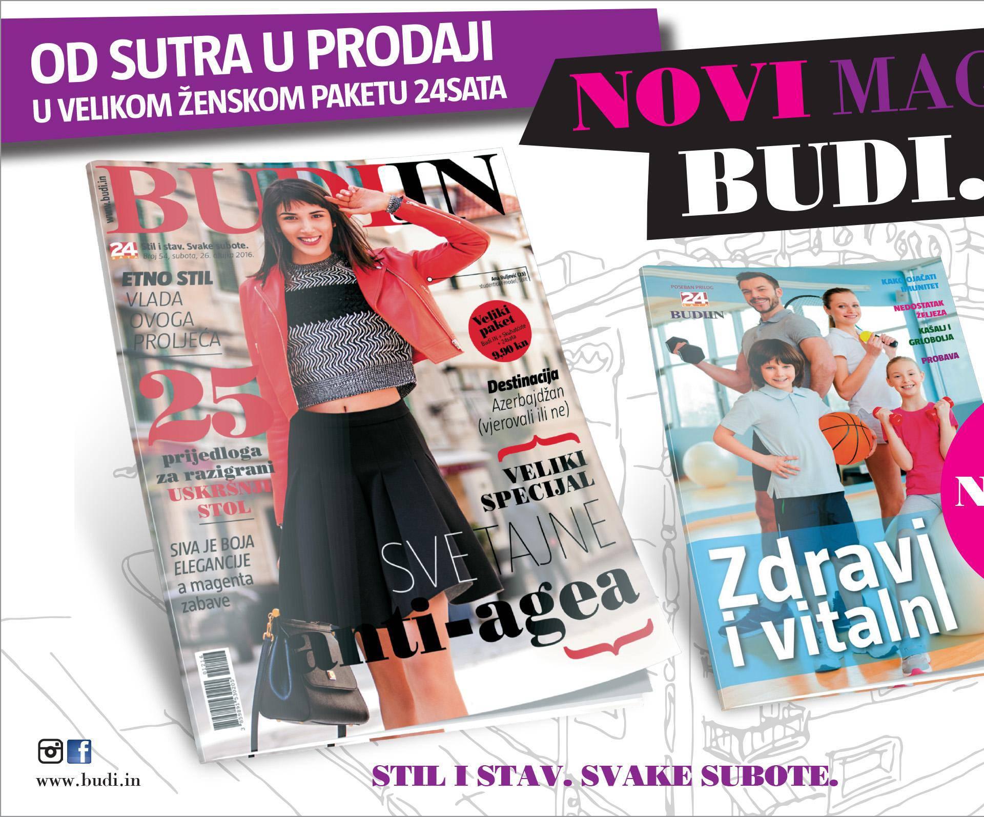 Od sutra u prodaji novi Budi.IN uz koji dobivate knjižicu na dar