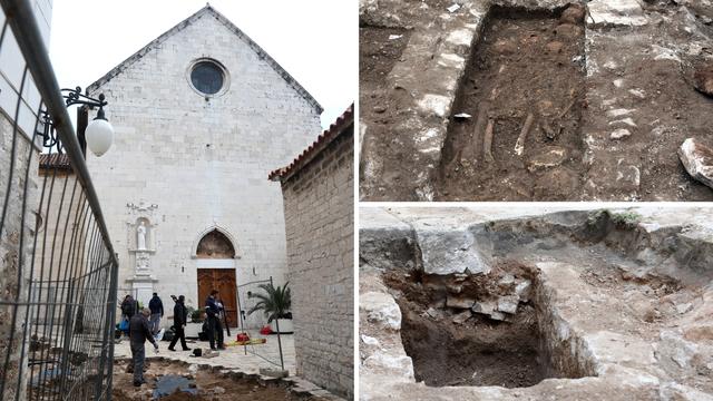 Prilikom radova u blizini crkve u Šibeniku otkrili prastaro groblje