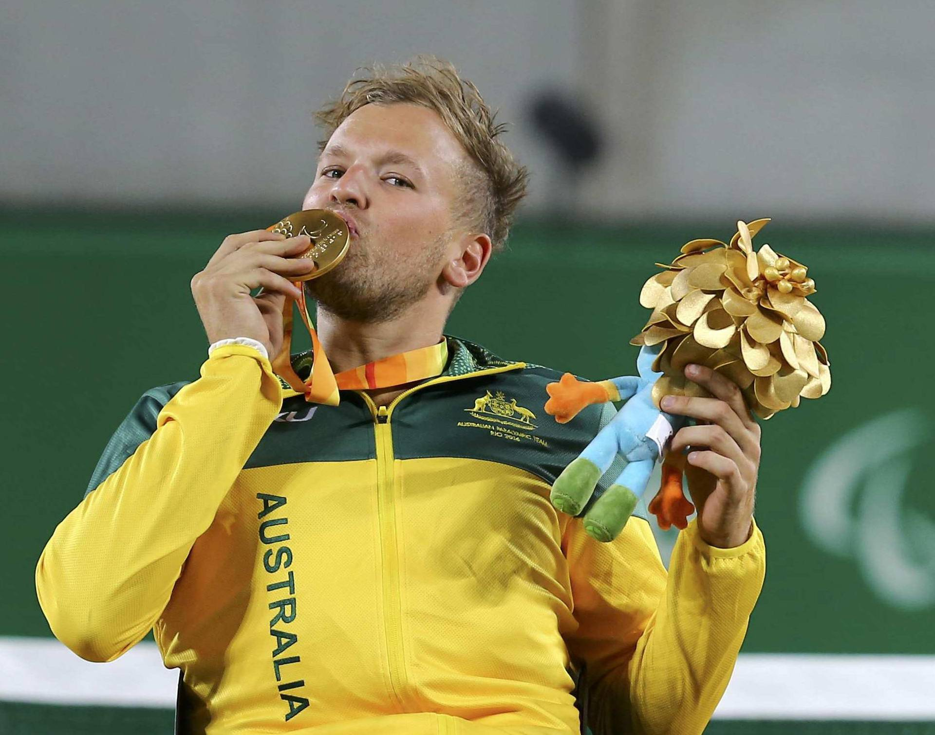 Wheelchair Tennis - Quad Doubles Gold Medal Match Victory Ceremony
