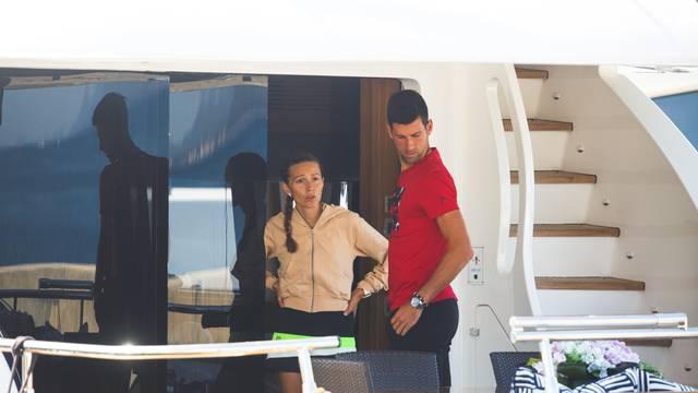 Zadar: Novak Đoković s obitelji na jahti Asha