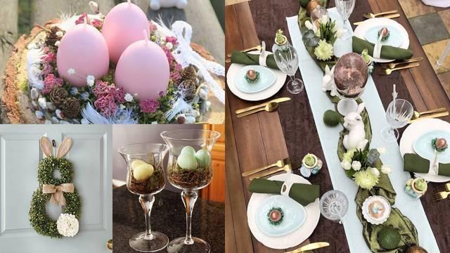 Top ideje za uskrsne dekoracije: Čaše s pisanicama i vijenac zečić