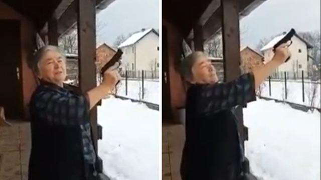 Baka iz BiH Srbima čestitala Božić pa zapucala iz pištolja