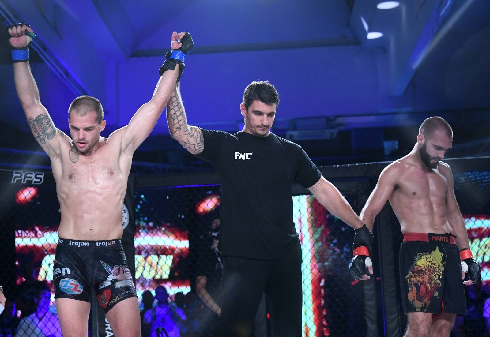 Zagreb: Armagedon turnir MMA borbi, Daniel Bažant - Nino Škrijelj