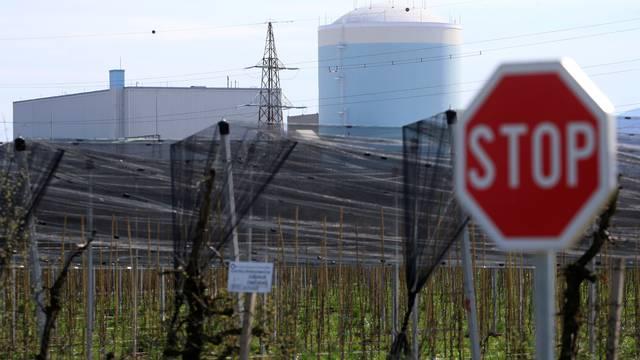 Nuclear power plant is seen in Krsko