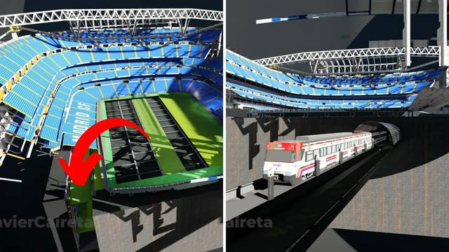 Spektakularno: Teren Realova stadiona moći će se sklopiti u rupu, a ispod njega jurit će vlak