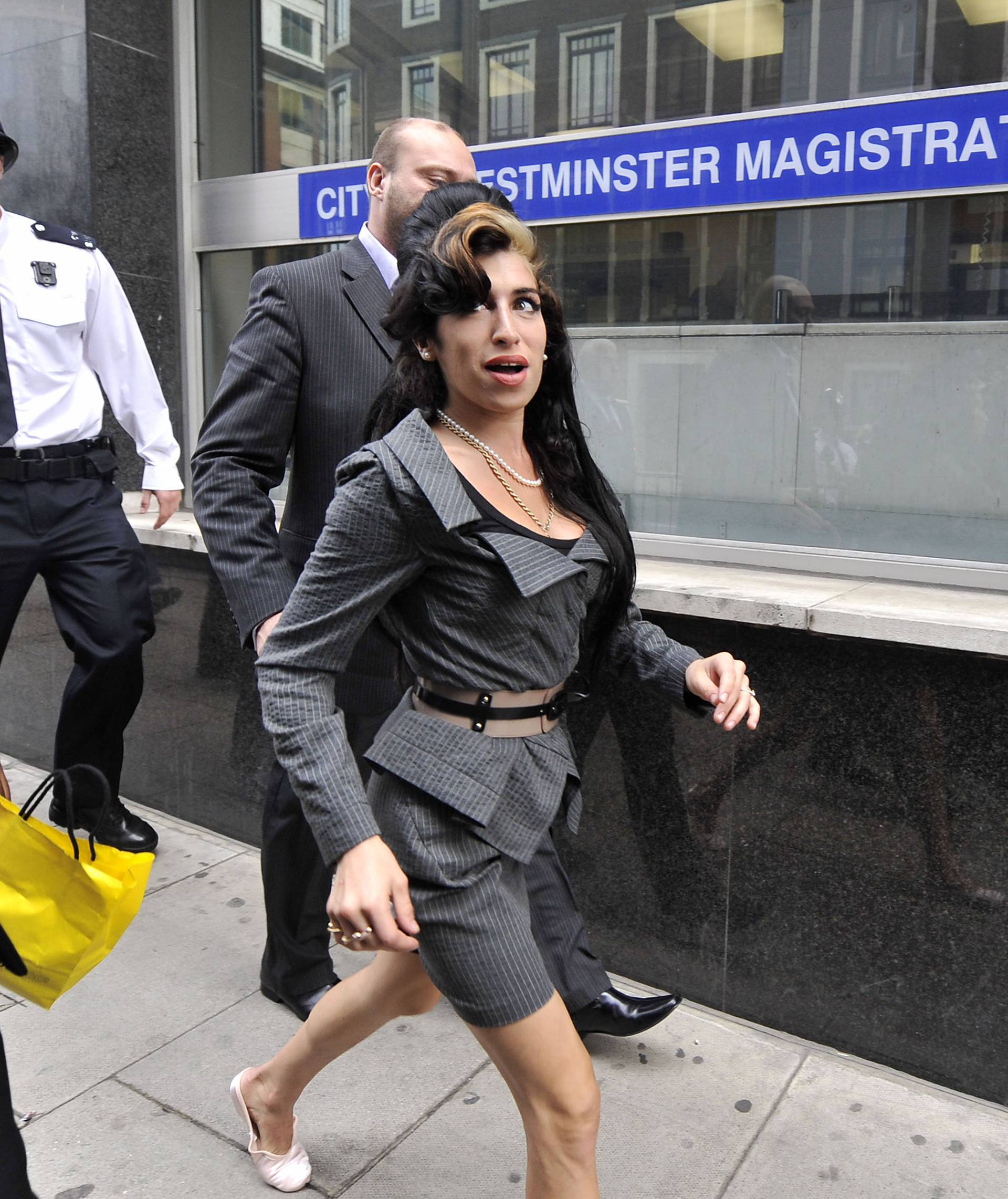 Amy Winehouse arrives at court - London