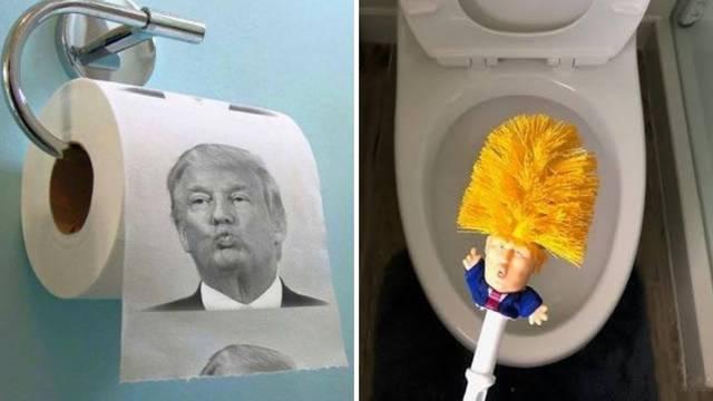Toaletni papir s likom Trumpa čini odlazak na WC zabavnim