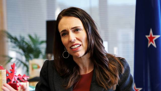 FILE PHOTO: New Zealand's Prime Minister Jacinda Ardern speaks during an interview with Reuters in Wellington