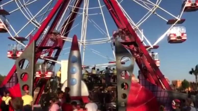 Okretali kotač kako bi spasili ljude: U parku je nestalo struje