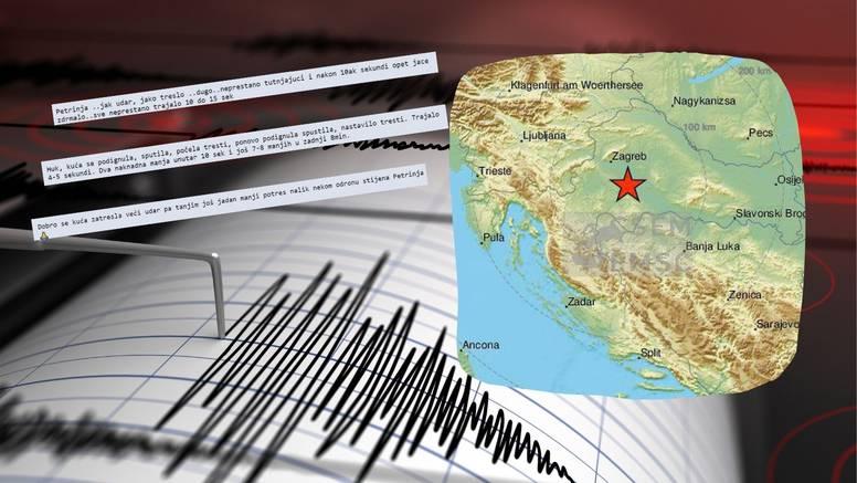 Petrinjci o jakom potresu: 'Kuća mi se podigla i spustila. Pa se počela tresti. Ovo je katastrofa'