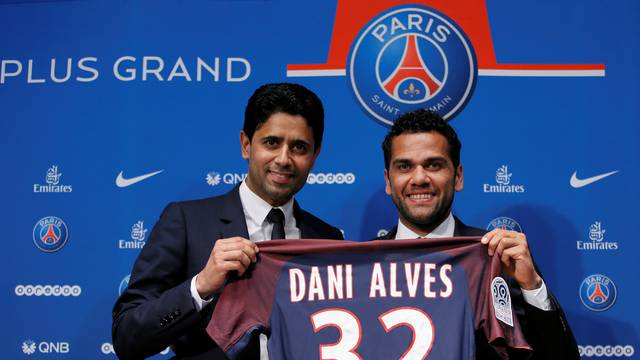 Football Soccer - Paris St Germain new player Brazilian Dani Alves