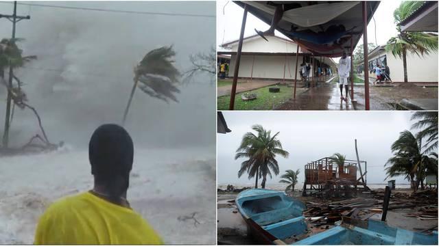 Uragan lota 'mete' Nikaragvu: Udari vjetra i do 260 km na sat!