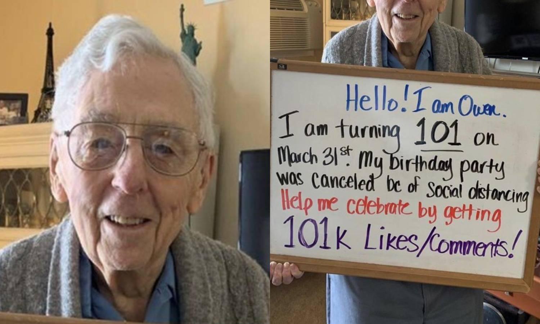 Za 101 rođendan Owen želi tek 101 tisuću lajkova na Twitteru